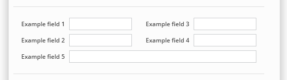 Custom field layout with start new row