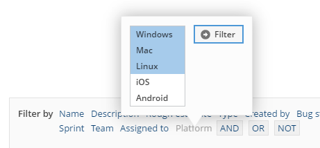 Filtering on custom fields