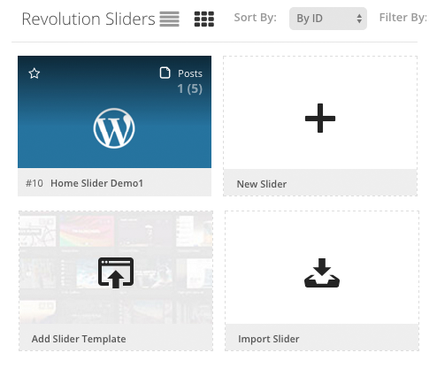 Revolutions Slider - Slider Import - Xstore Documentation