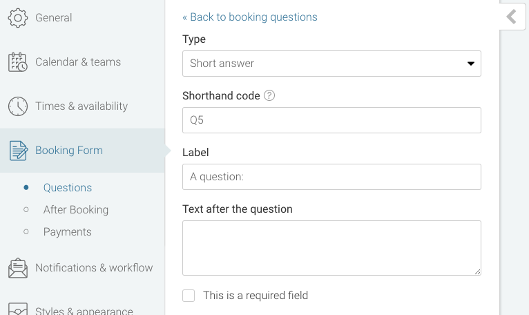 Setting up your booking form youcanbook knowledge base deleting a question thecheapjerseys Choice Image