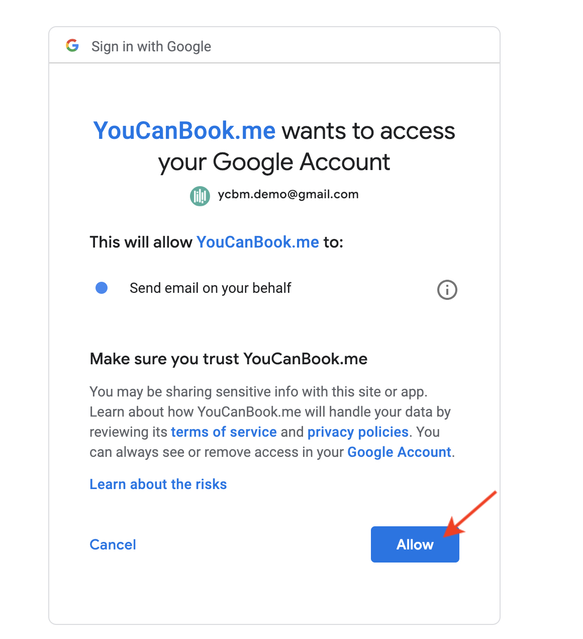 Send email notifications via your Gmail - YouCanBook me