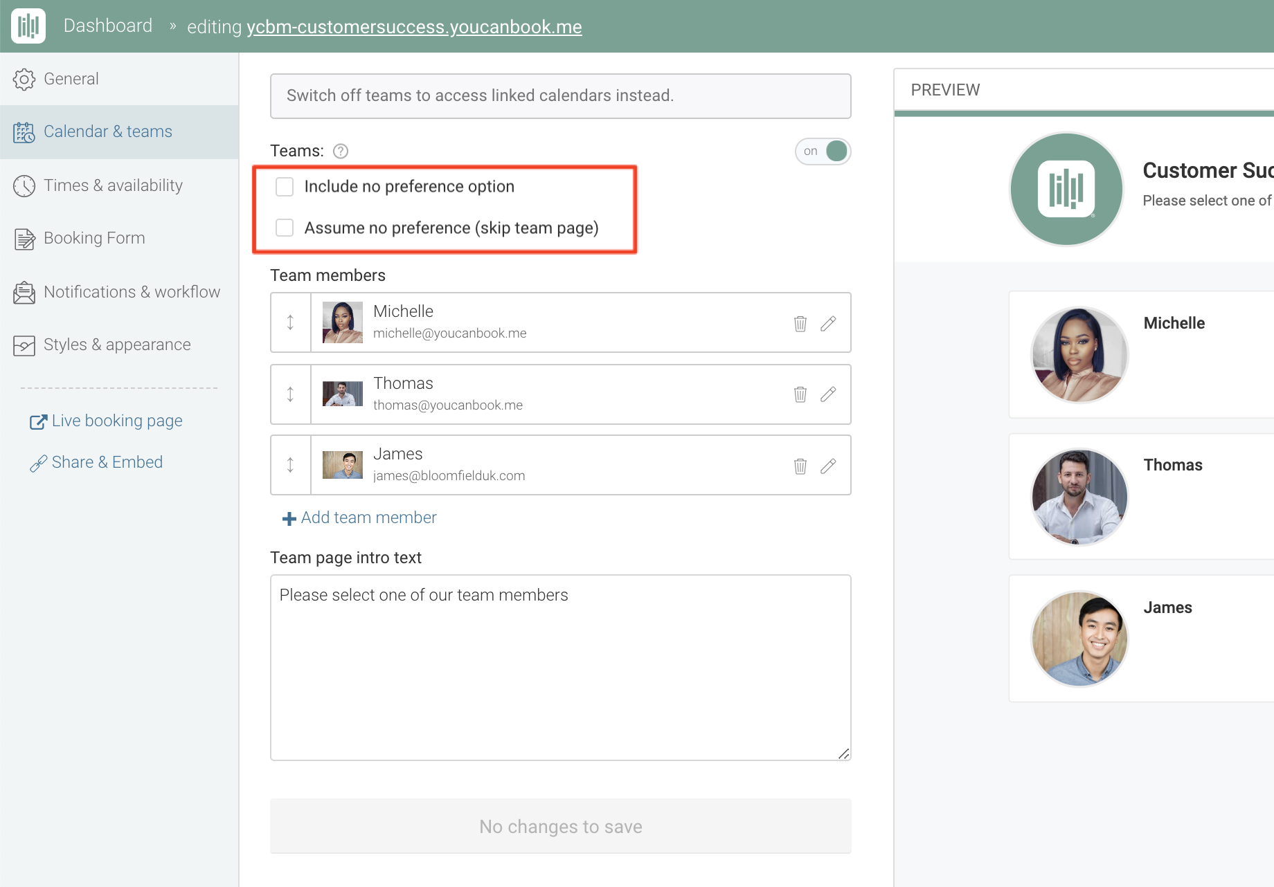 Using Teams to schedule multiple people - YouCanBook me