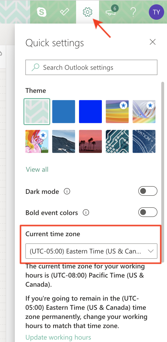 Getting the timezone setting right for your profile