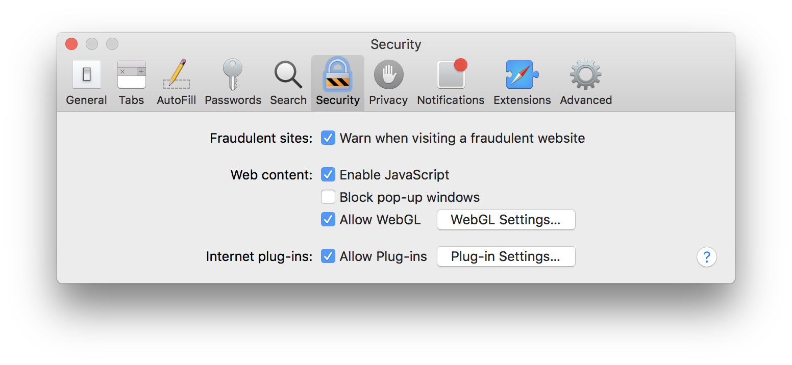Allow pop-ups in Safari