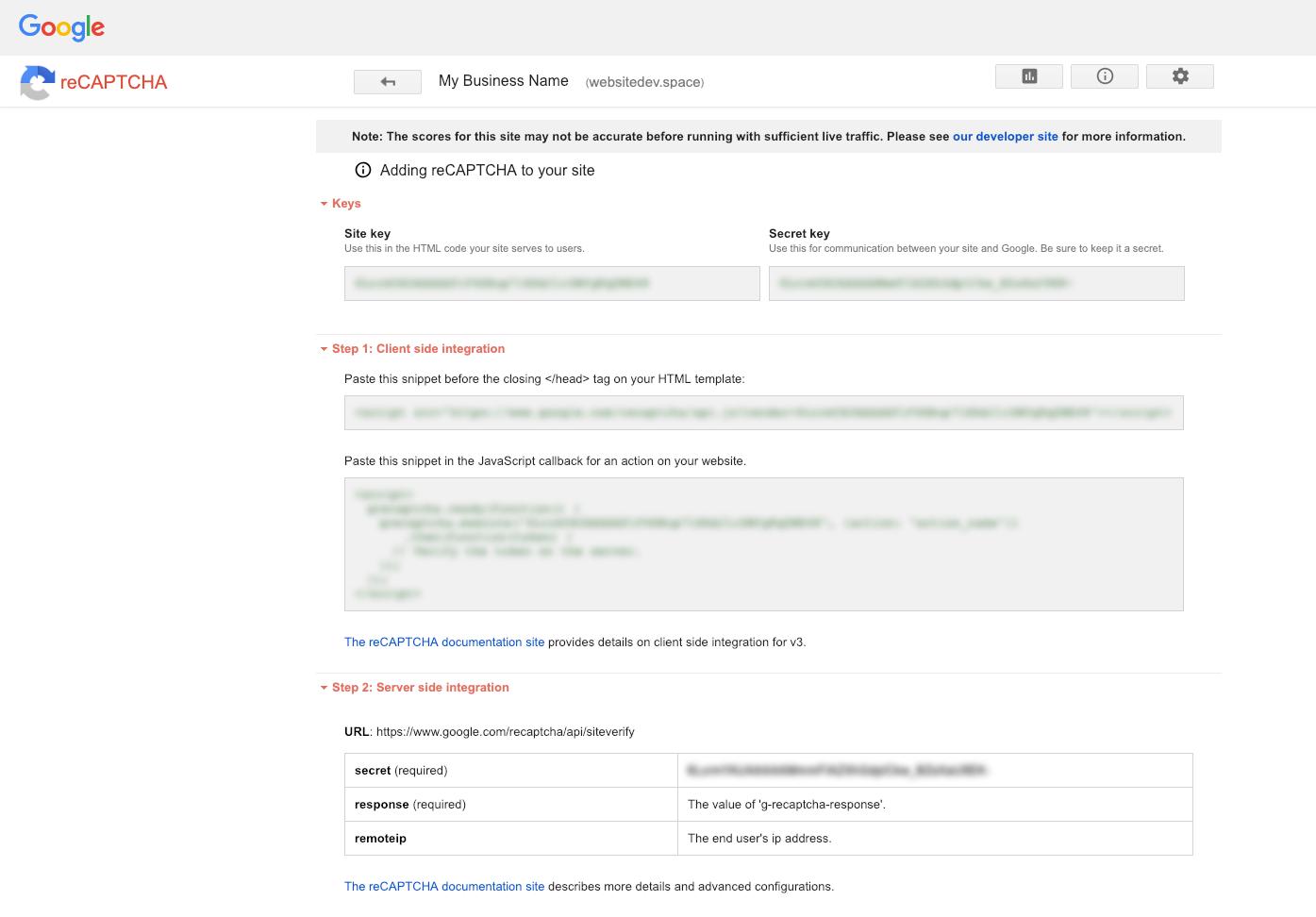 Setting up Google reCAPTCHA - Pitch Digital Knowledge Base