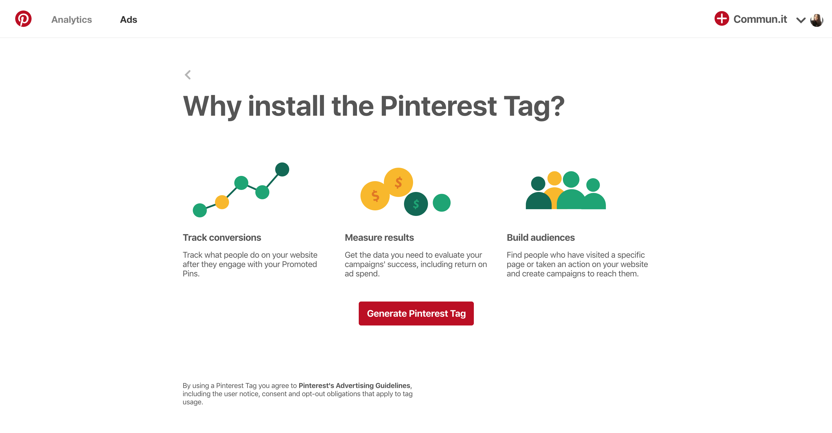How to find your Pinterest Pixel ID - FAQ | Commun it