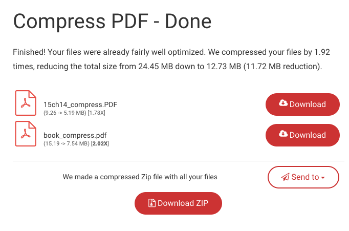 Compress PDF download page