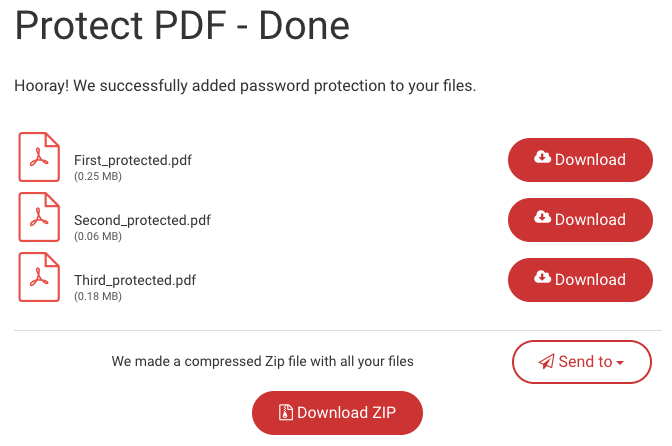 Download page for protect PDF