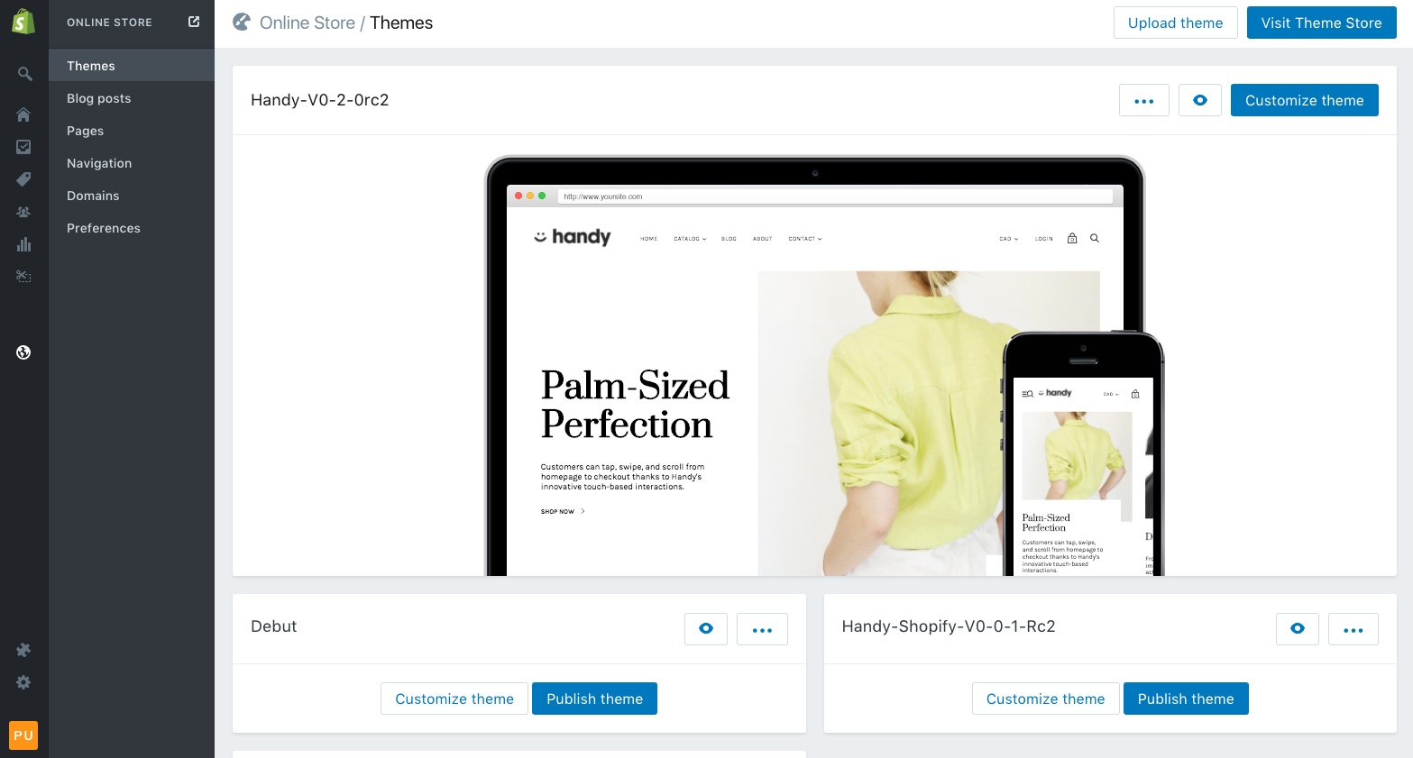 Using The Theme Editor With Handy Pixel Union - Shopify template editor