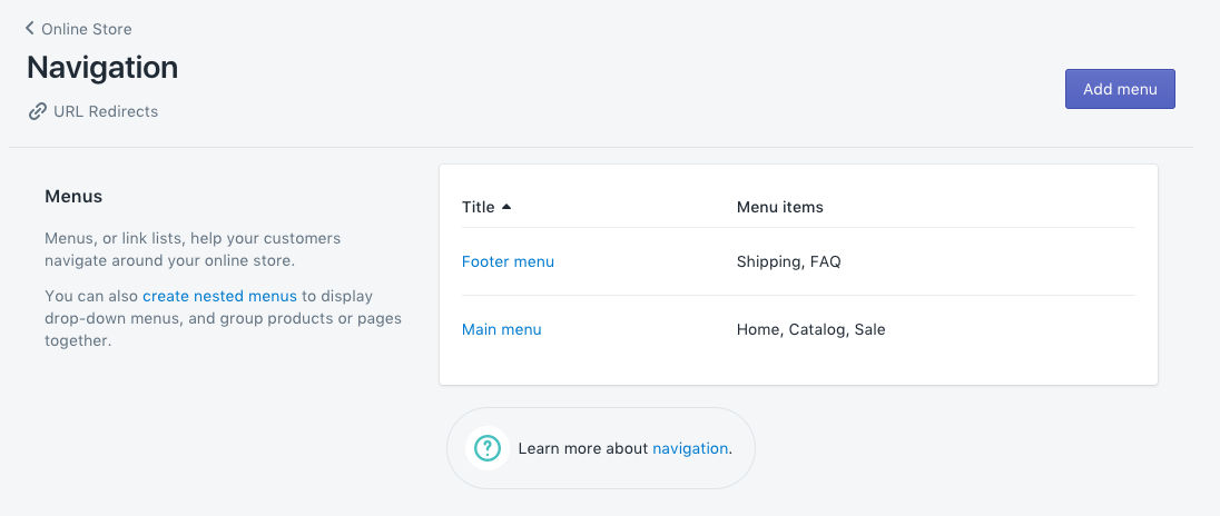 how to set up your store s navigation pixel union