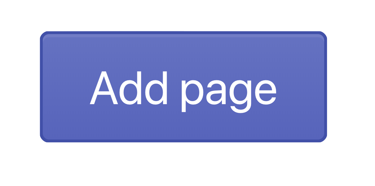 Add page button in Pages admin