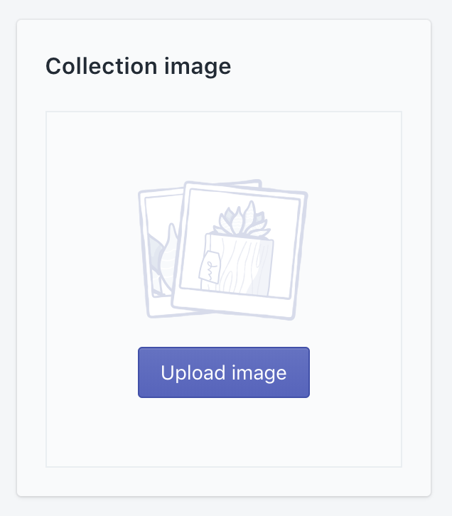 Upload collection image in admin