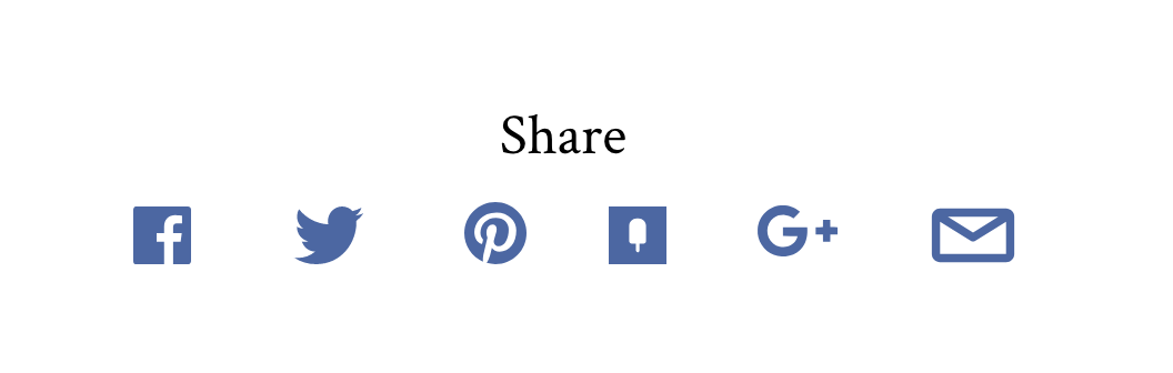 Social media sharing buttons on article page