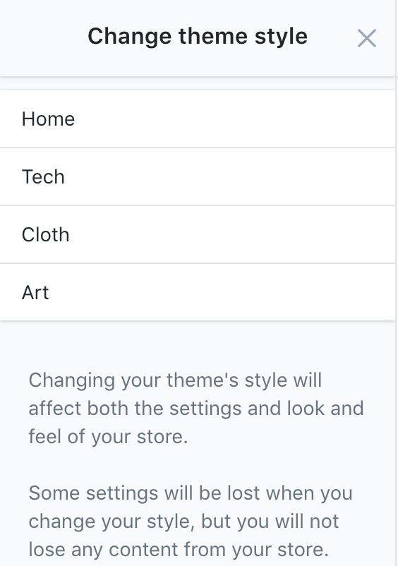 Change theme style in Startup