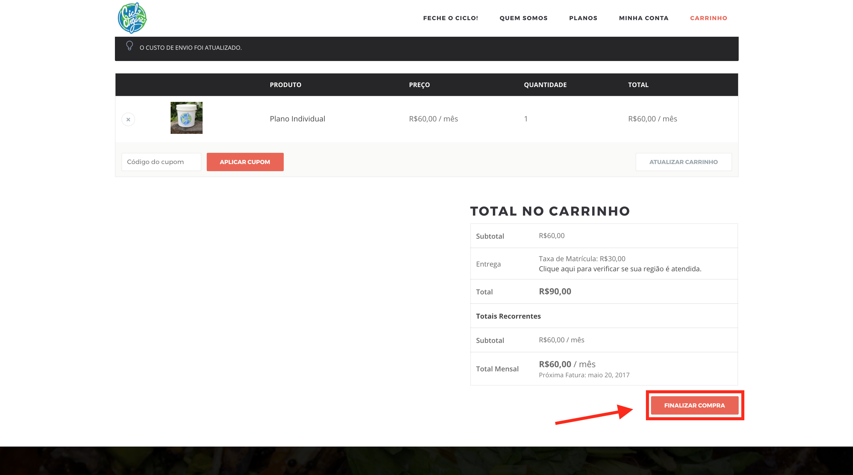 41d82bf61de6 5 - Agora na Página de Finalização da compra, na etapa 1, basta criar sua  conta em nosso site informando seu nome, CPF ou CNPJ, Endereço completo com  CEP, ...