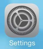 open the ios 7 settings menu