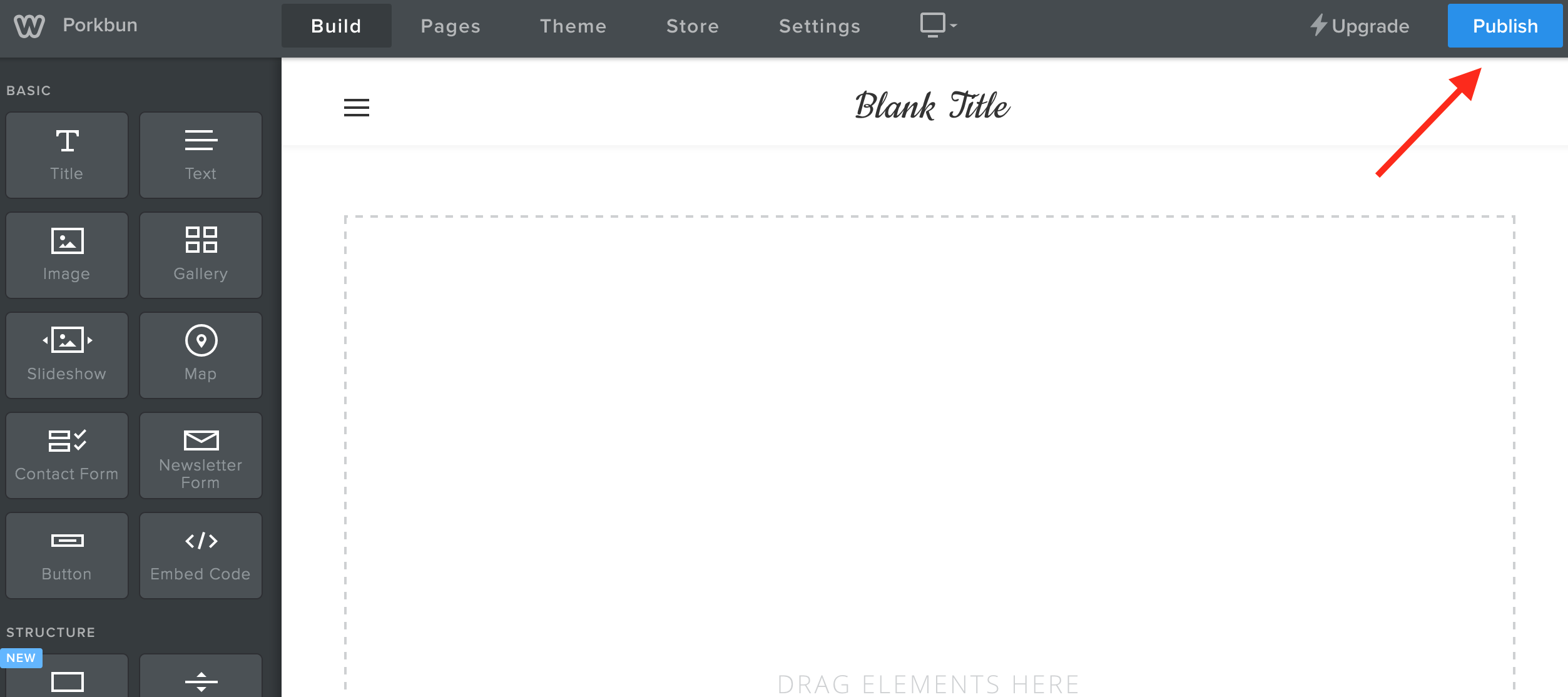 9 Once You Select A Theme Can Create Your Site Click The Publish Button In Top Right Corner And Will Go Live