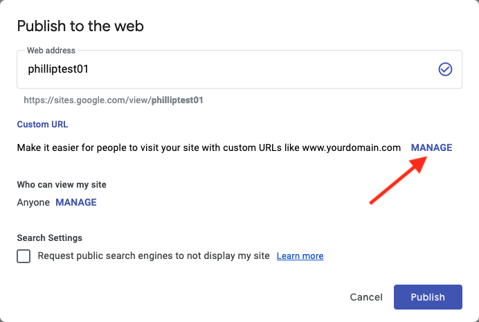 How to connect your domain to Google Sites - Porkbun