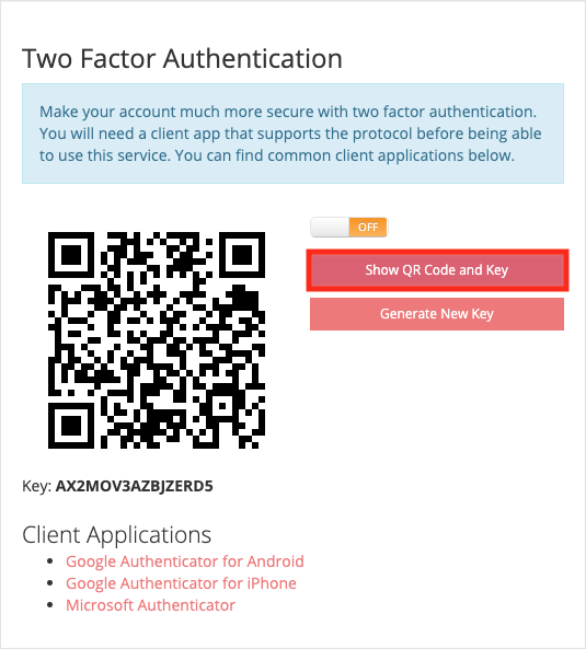 How to enable two-factor authentication - Porkbun Knowledge Base