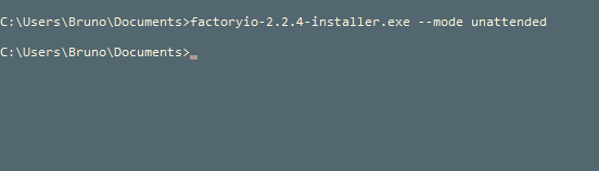 Install in silent mode - FACTORY I/O Support