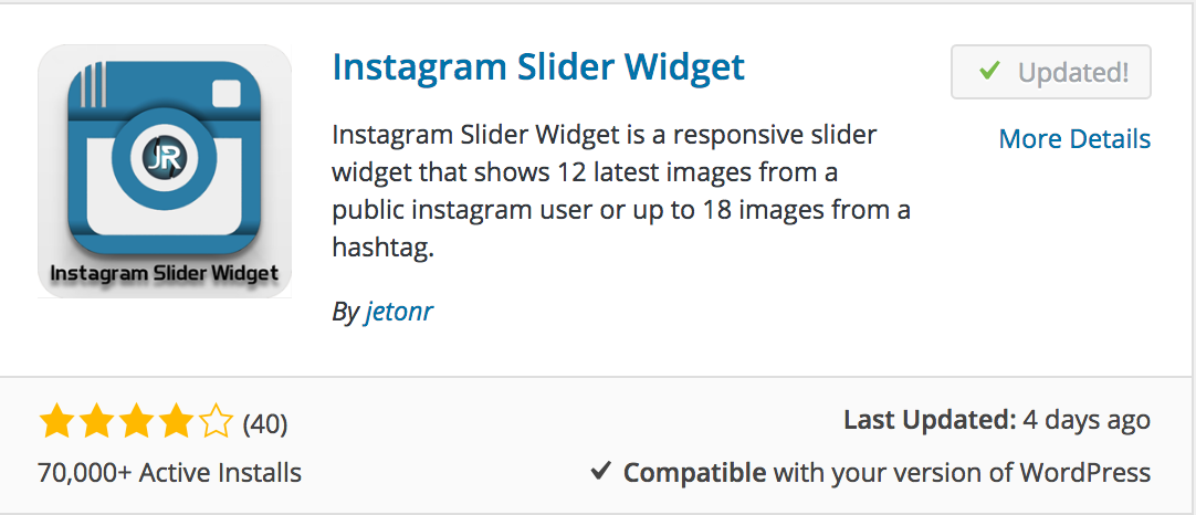 Instagram in Sidebar - Bloom Knowledge Base