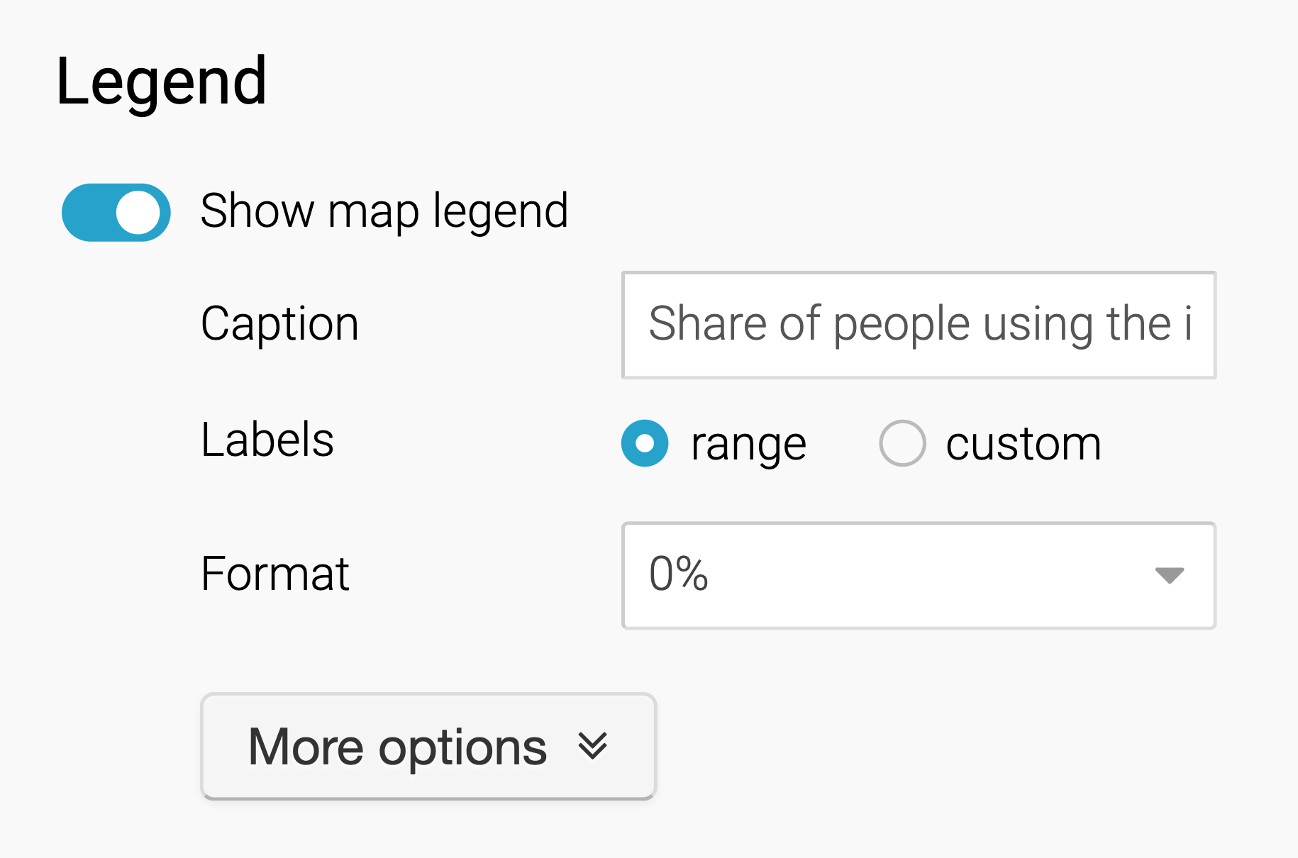 How To Customize Your Map Legend Datawrapper Academy