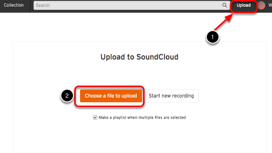 2. Upload uw audio bestand