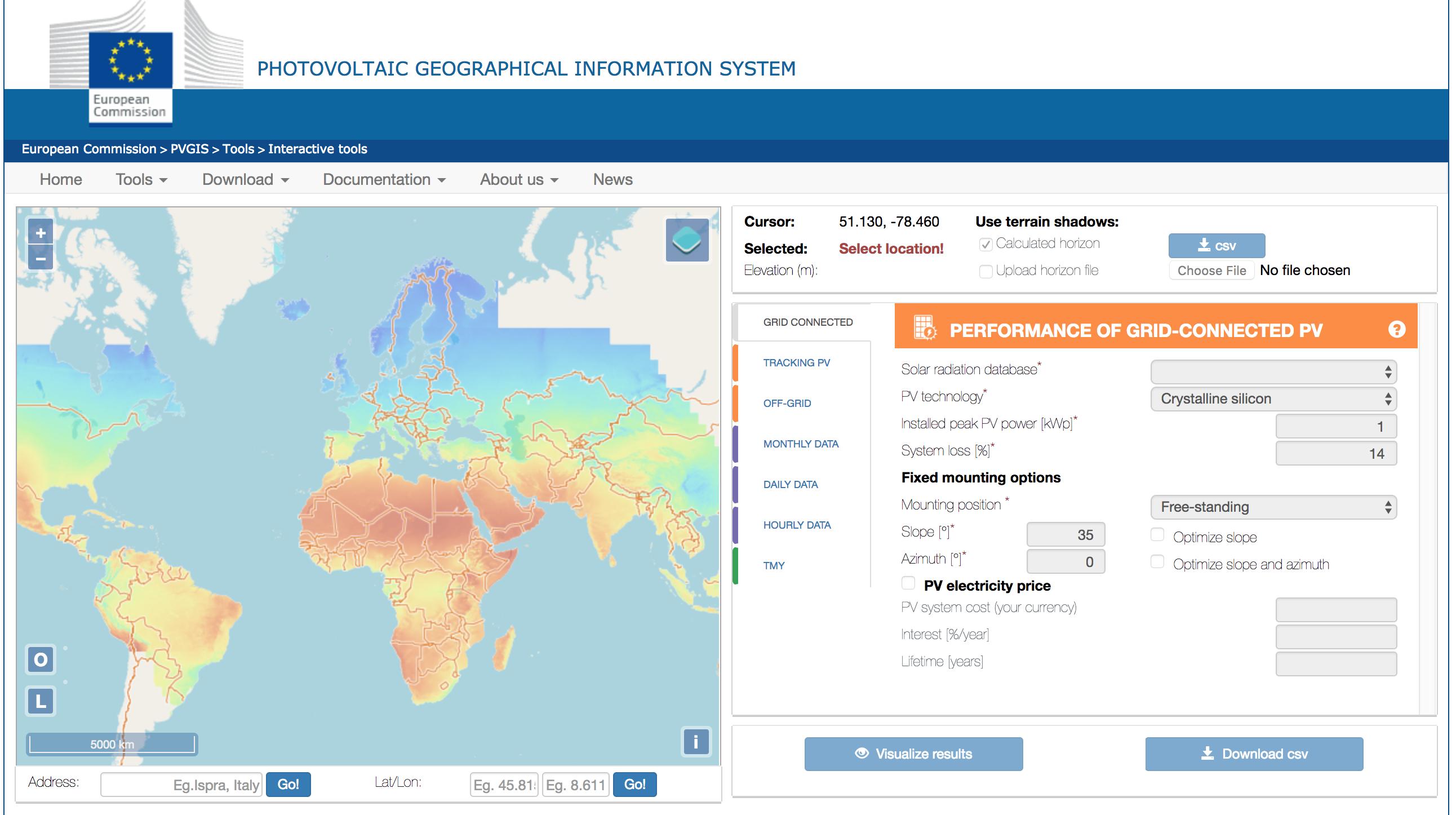Uploading International Weather Files from PVGIS - HelioScope