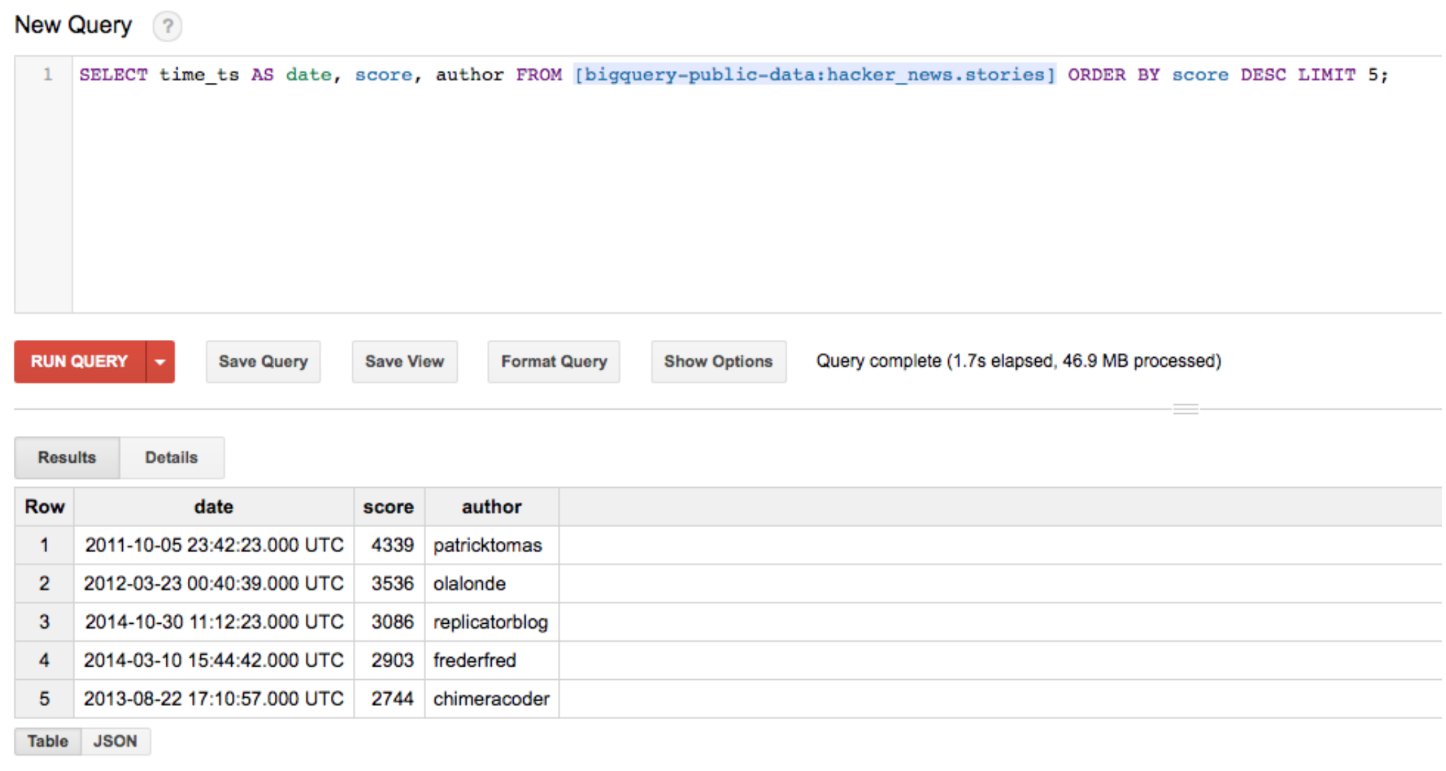 Guide: Using Google BigQuery with Databox - Databox Help Desk