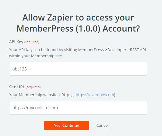 MemberPress And Zapier Connecting