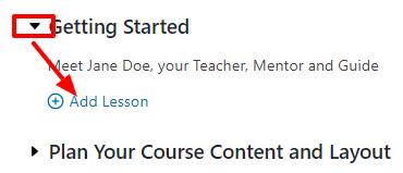 Add lessons