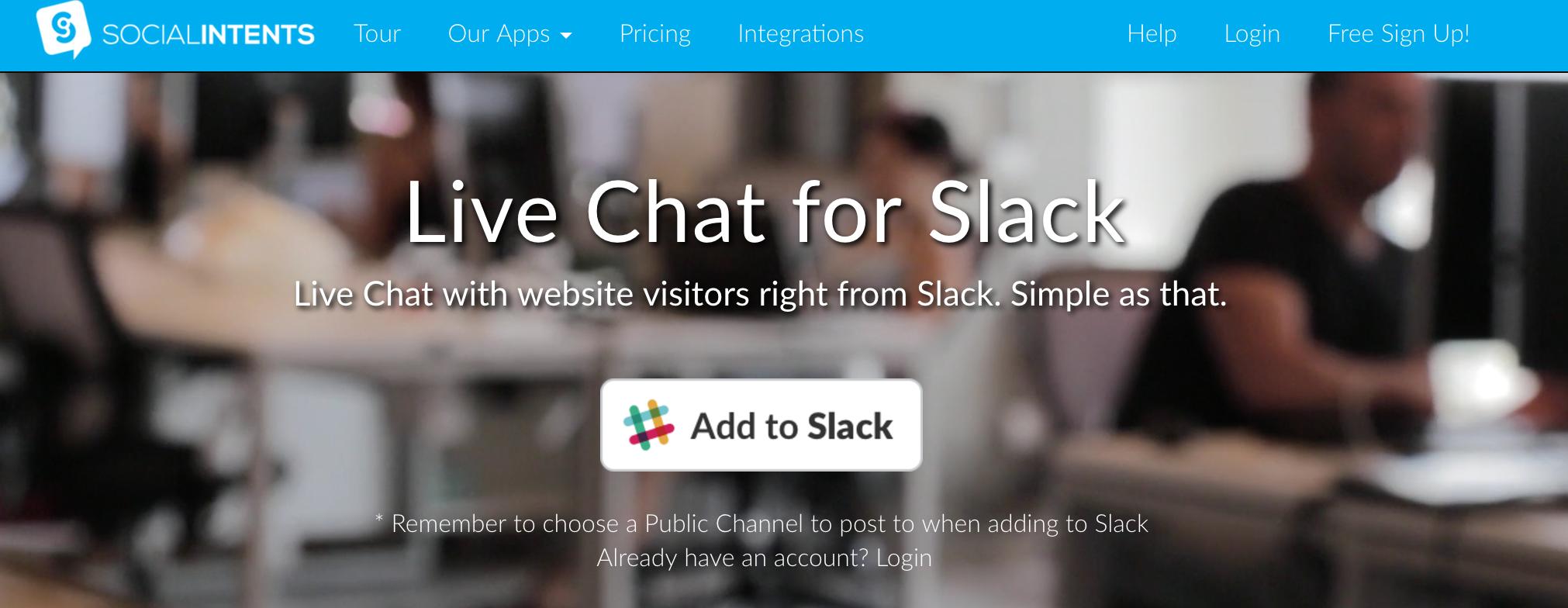 Slack Integration - Social Intents Knowledge Base