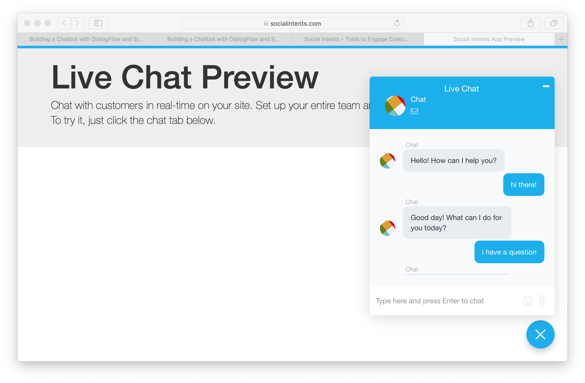 Building a Chatbot with DialogFlow and Slack - Social Intents