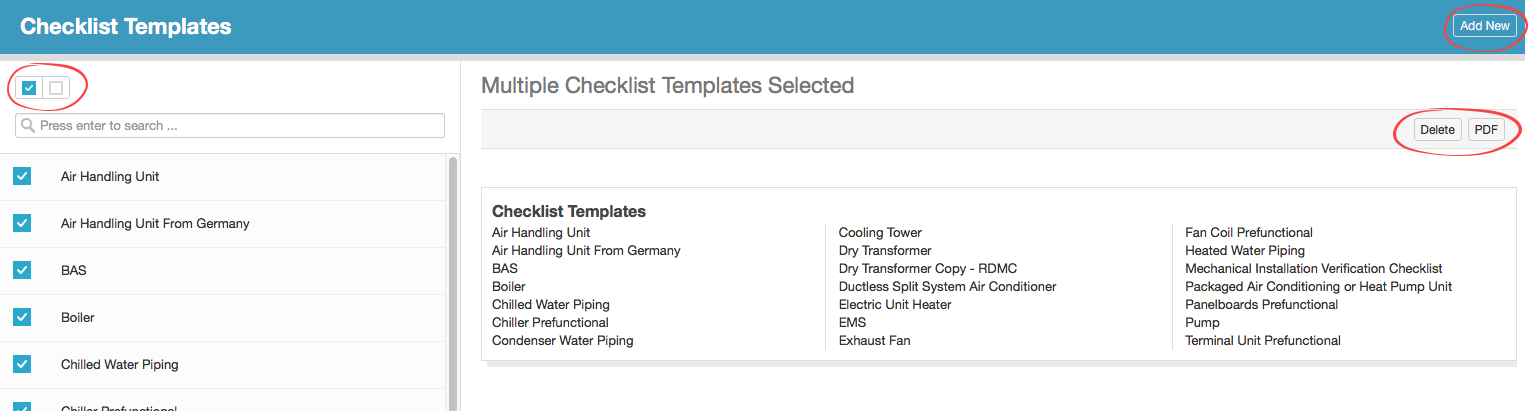 Account Section - Checklist Templates - CxAlloy Support