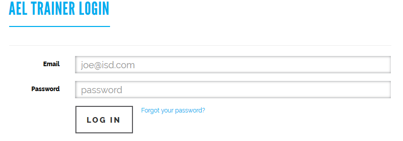 The trainer will have to login