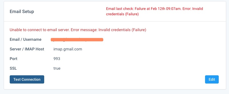 Email Integration: Invalid Credentials - Knowledge Base
