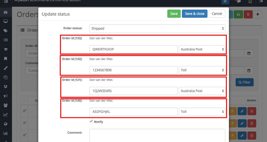 Quick Status Updater - Arpastart eCommerce Documentation
