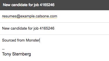 using resume inbox cats knowledge base