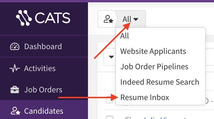 Adding candidates - CATS Knowledge Base