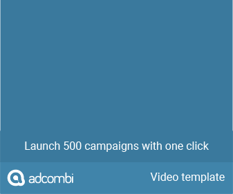How to create an in-banner-video creative - Adcombi support