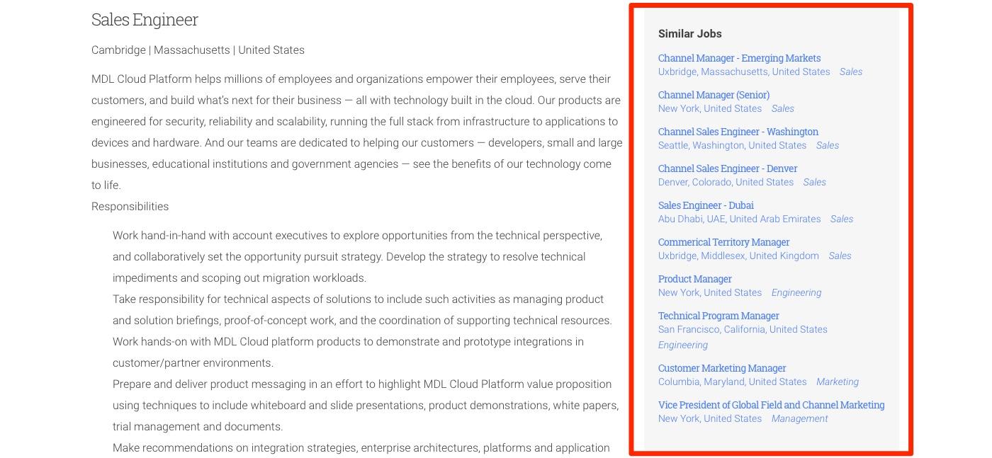 to customize the job lists block