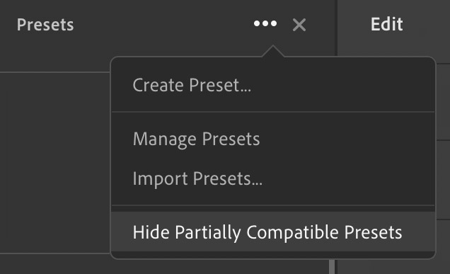 Presets are not appearing in Lightroom - DVLOP Support