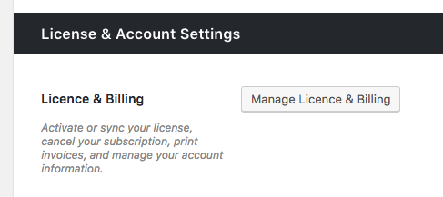 Click Manage Licence U0026 Billing.  Invoice For You