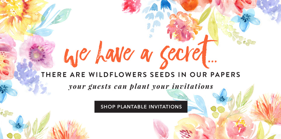 Plantable Seeded Paper Wedding Invitations