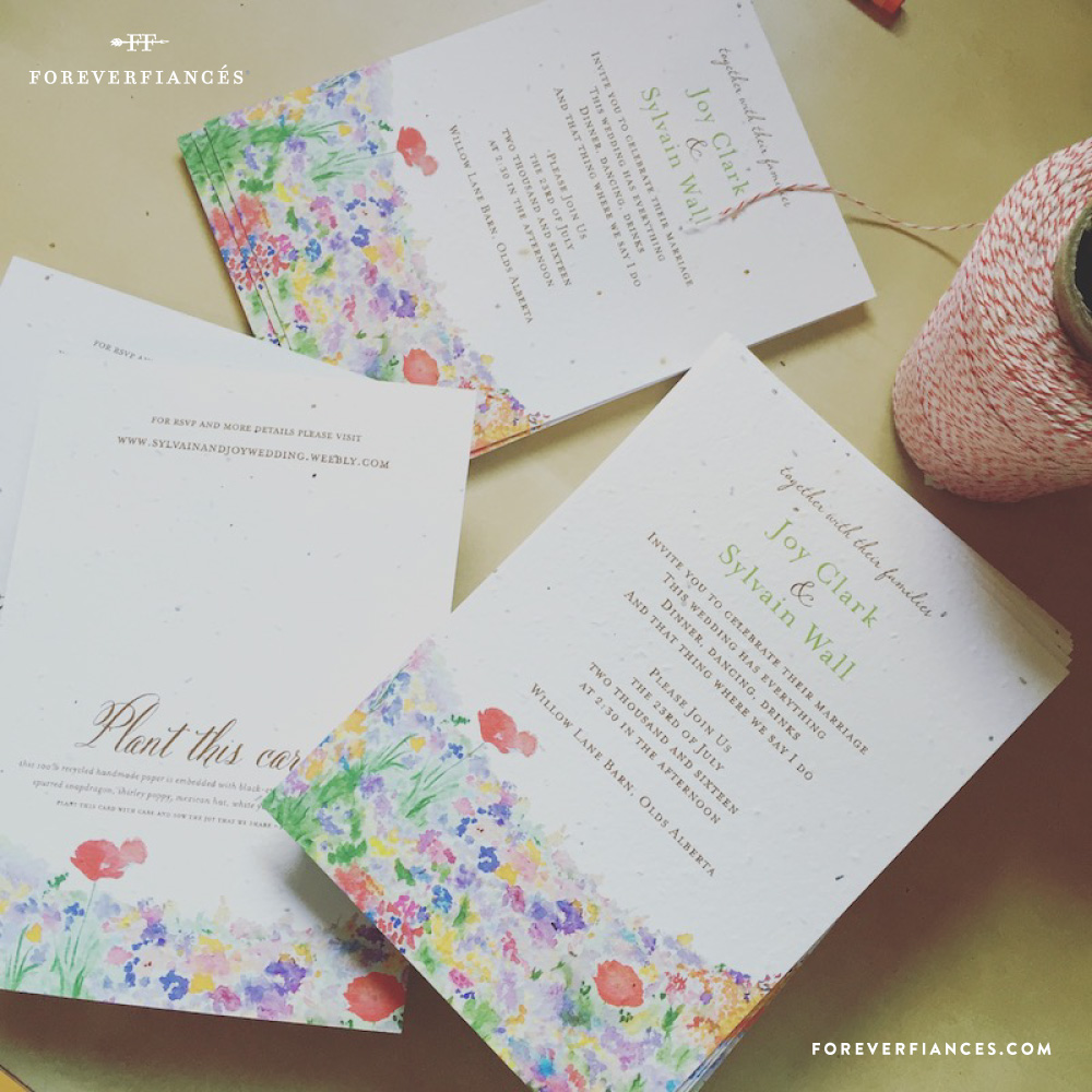 plantable invitations seeded paper