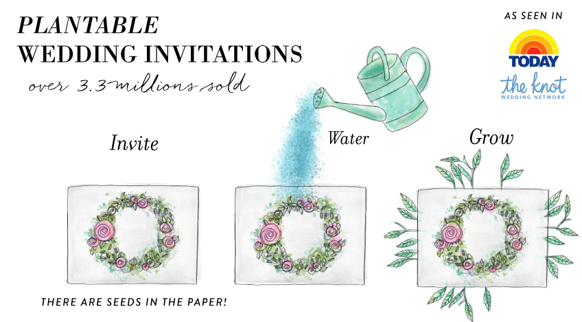 plantable wedding invitations seeded paper