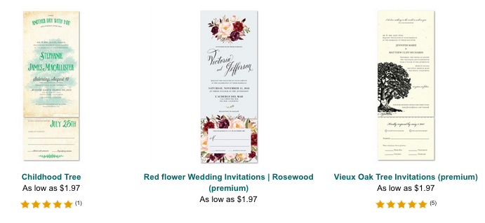 all in one invitations detachable rsvp cards