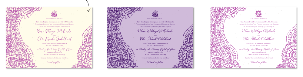 indian paisley wedding invitations