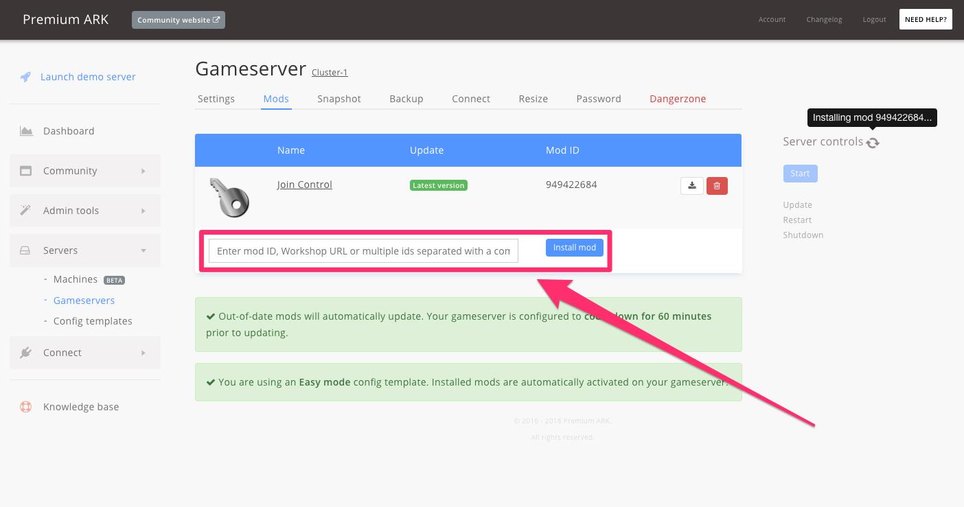 Setup JoinControl whitelist for your server - GameserverApp com