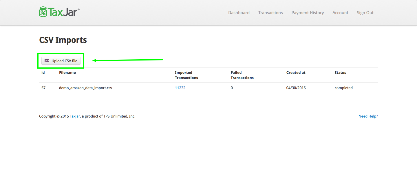 Import or Edit Transactions with a CSV - TaxJar Support